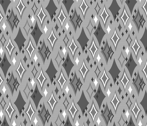 Diamond Shower (Silver) fabric by robyriker on Spoonflower - custom fabric
