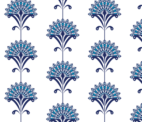 peacock swatch fabric by flying_leap on Spoonflower - custom fabric