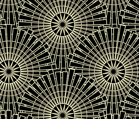 Swell & Swanky - Black & Gold fabric by sarah_treu on Spoonflower - custom fabric