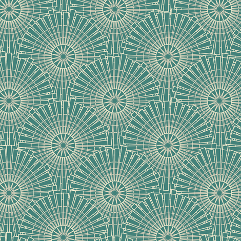 Swell & Swanky - Teal fabric by sarah_treu on Spoonflower - custom fabric