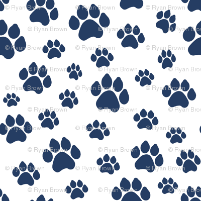 Navy Doggy Paws // Large