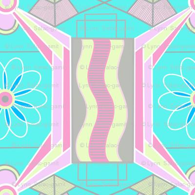 pastel-colored art deco