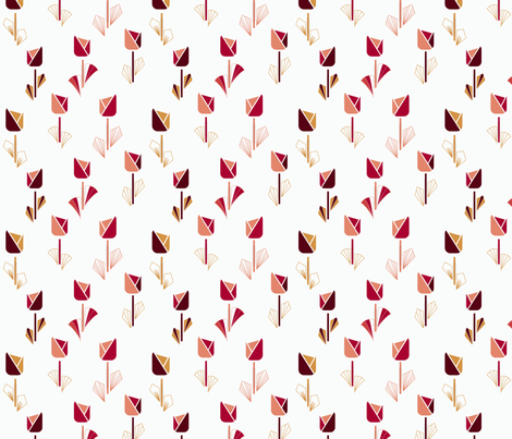 Art Deco Tulips fabric by paula_ohreen_designs on Spoonflower - custom fabric