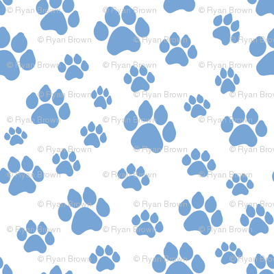 Blue Doggy Paws // Large
