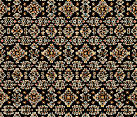 Jazz Blossoms Art Deco fabric by alicefrenz on Spoonflower - custom fabric