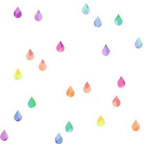 Couds + Rain - Raindrops Rainbow Prismatic