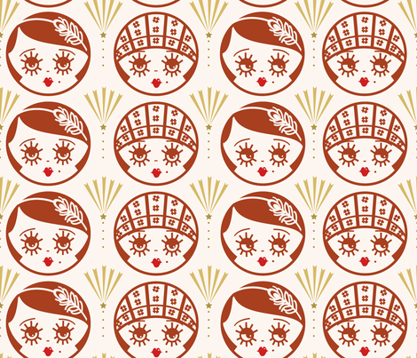 Art Deco Flapper Girls fabric by morecandyshop on Spoonflower - custom fabric