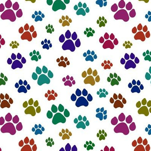 Colorful Doggy Paws // Small