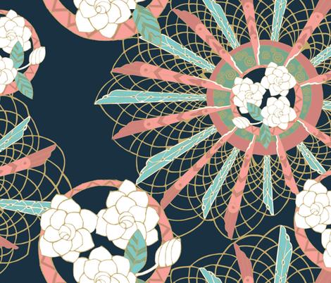 Gardenia fabric by the_window_way on Spoonflower - custom fabric