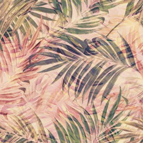 Palm Leaves in Pink