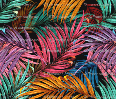 Palm Leaves in color