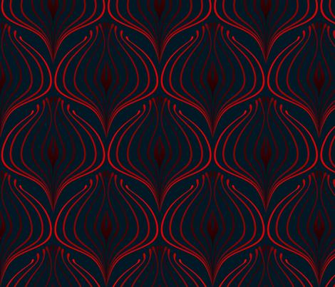 ART DECO Rosso Blu fabric by asia_jachnik on Spoonflower - custom fabric