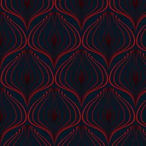 ART DECO Rosso Blu