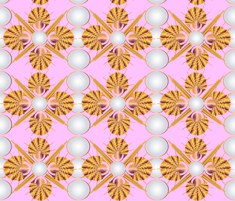 Art Deco Pink Lady fabric by gracelillydesigns on Spoonflower - custom fabric