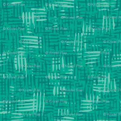 Painted Hatch—Dark Green