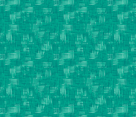 Painted Hatch—Dark Green fabric by oh_maybe on Spoonflower - custom fabric