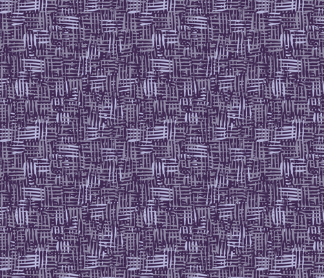 Painted Hatch—Dark Purple fabric by oh_maybe on Spoonflower - custom fabric