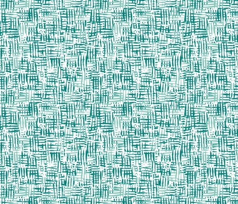 Painted Hatch—Green fabric by oh_maybe on Spoonflower - custom fabric