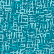 Painted Hatch—Teal Blue