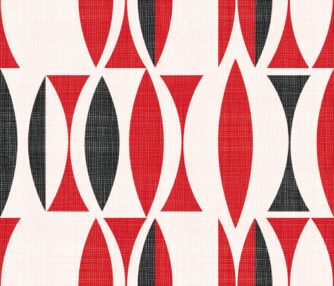 Seventies Cherry Red fabric by chicca_besso on Spoonflower - custom fabric