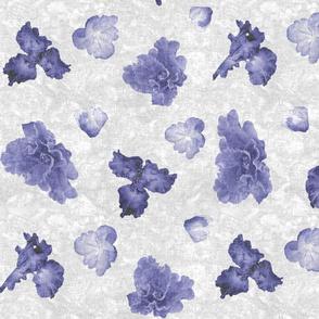Flower Play Medium Blue on White