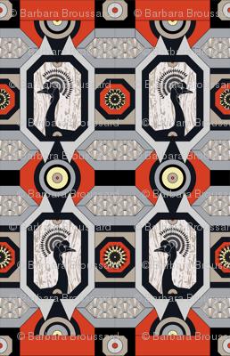 crane deco fabric wyndbrook design spoonflower. Black Bedroom Furniture Sets. Home Design Ideas