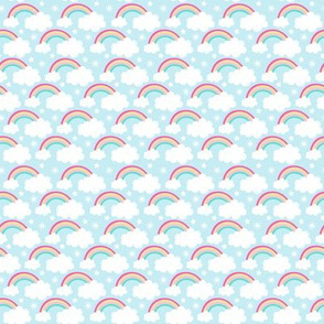 Fairies and Unicorns - Rainbows and clouds (Small)