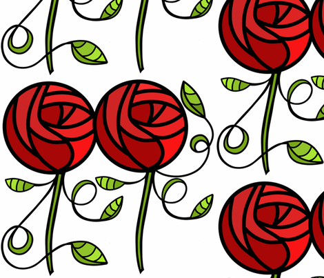 deco rose sewindigo fabric by sewindigo on Spoonflower - custom fabric