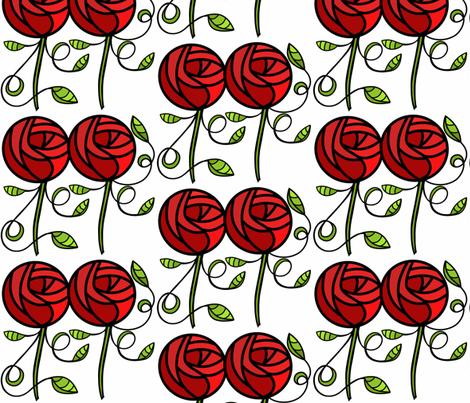deco rose Large Scale sewindigo fabric by sewindigo on Spoonflower - custom fabric