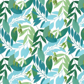 To the forest_pattern /white green/