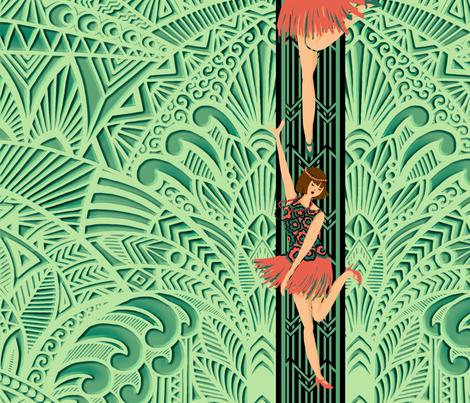 Art deco dancer1 fabric by letiziavalli on Spoonflower - custom fabric