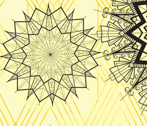 Color-Me-In - Art Deco Mandalas fabric by withlovebynishi on Spoonflower - custom fabric