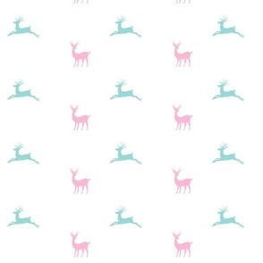 Deer 7 - pink mint