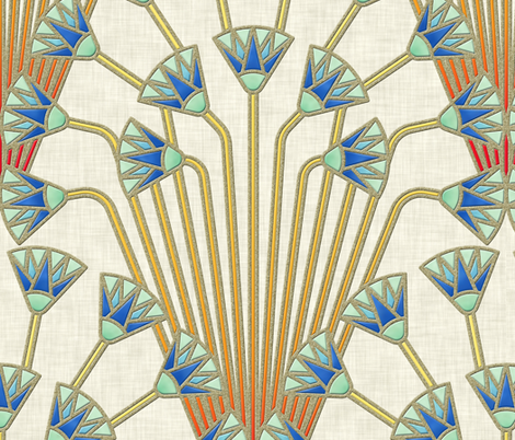 papyrus flowers (light) fabric by analinea on Spoonflower - custom fabric