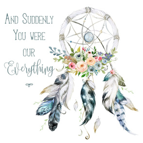"27""x36"" Suddenly You Were Our Everything / 2 to 1 Yard of Minky"