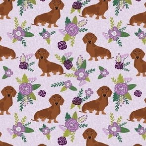 dachshund pet quilt c red coat doxie dog breed coordinate floral