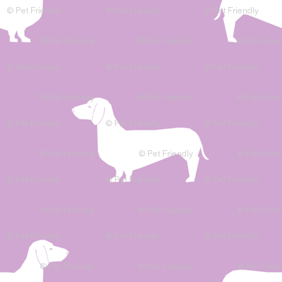 dachshund pet quilt c  doxie dog breed coordinate silhouette