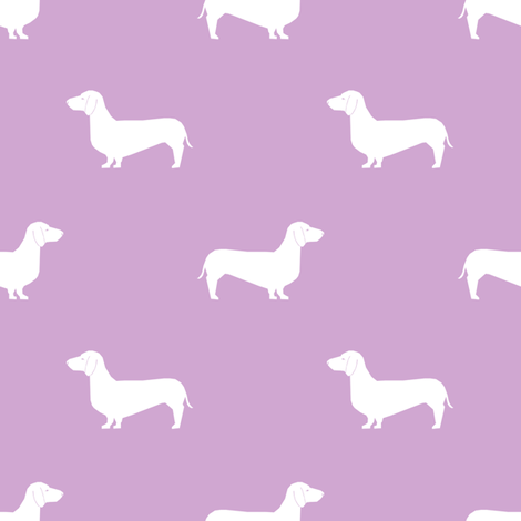 dachshund pet quilt c  doxie dog breed coordinate silhouette fabric by petfriendly on Spoonflower - custom fabric