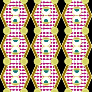 Deco trellis pink