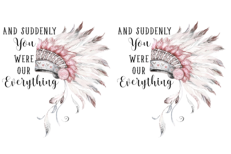 """27""""x36"""" Suddenly You Were Our Everything / Pink & Grey fabric by shopcabin on Spoonflower - custom fabric"""