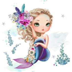 "27""x36"" Lilac Mermaid / 2 to 1 Yard of Minky"