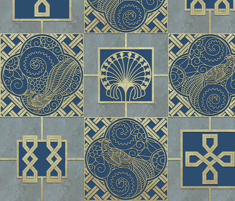 """The Pheasants""  fabric by geetanjali on Spoonflower - custom fabric"