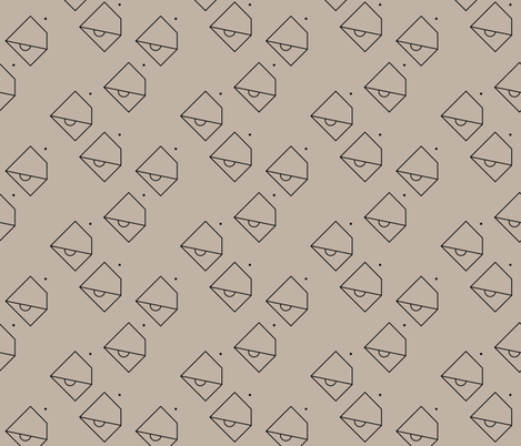 Trendy geometric tropical parrot bird abstract minimal style design gender neutral beige fabric by littlesmilemakers on Spoonflower - custom fabric
