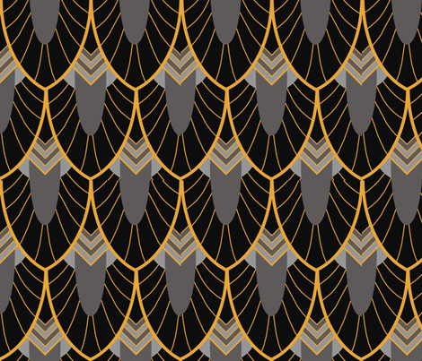 Art Deco Scallops fabric by magnoliaheatherart on Spoonflower - custom fabric