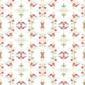 Deco Floral Mirrored - Small