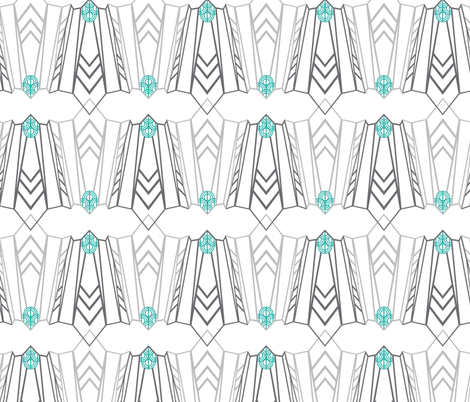 Art Deco Simple fabric by spoiledwine on Spoonflower - custom fabric