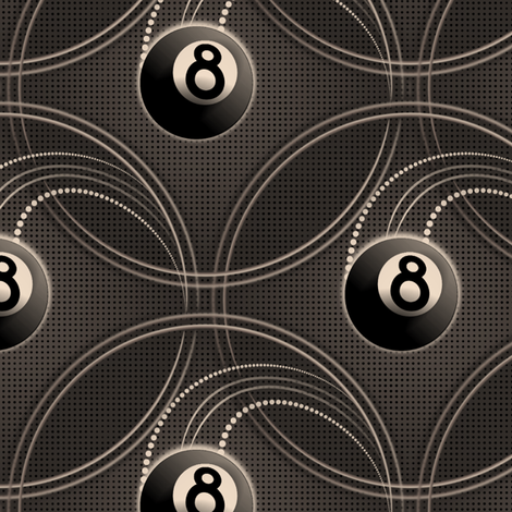 ★ MAGIC EIGHT BALL in BLACK AND WHITE ★ Large Scale Print fabric by borderlines on Spoonflower - custom fabric