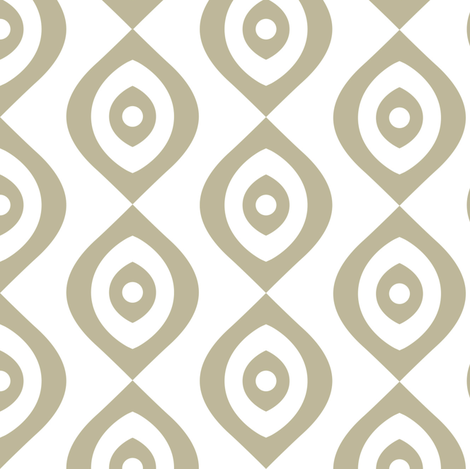 beige and white eyes fabric by maia_ming_designs on Spoonflower - custom fabric