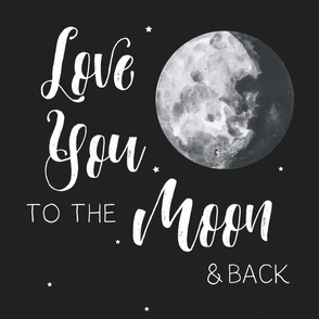 "27""x36"" Love You to the Moon / 2 Prints to 1 Yard of Minky"
