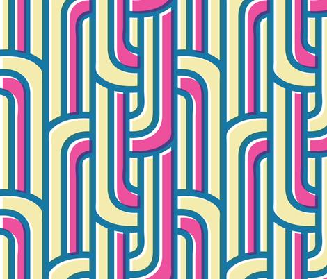 Art deco risography fabric by natalia_gonzalez on Spoonflower - custom fabric